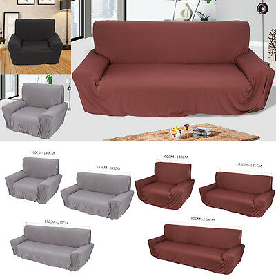 UK Stretch Couch Sofa Lounge Covers Recliner 1/2/3 Seater Dining Chair Cover