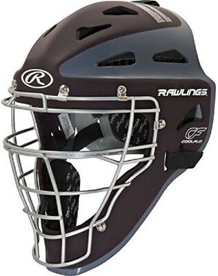 """Rawlings CHVELY Velo Youth Maroon / Gray Catchers Helmet Fits 6 1/2""""-7"""""""