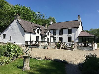 5 Bedroom House 15 acre Smallholding Wales woodland barn development possibility