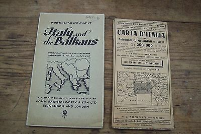 Two maps of Italian interest. Genova, and larger of Italy and Balkans