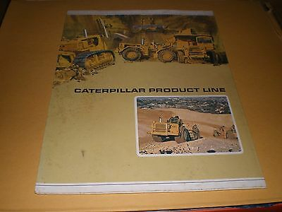 Old Caterpillar Tractor Product Line Folding Brochure