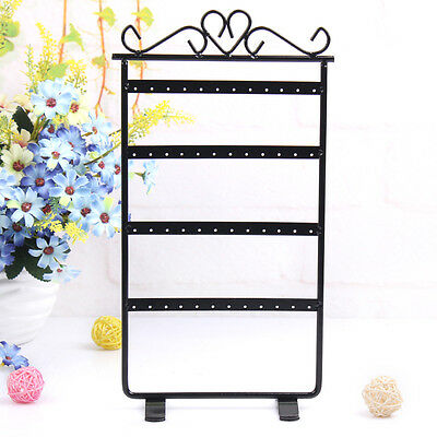Earring Stand 48 Hole Rack Jewelery Holder Metal Heart Display Hanger Strong