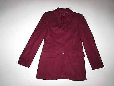 Brooks Brothers Womens 3 Button Blazer Jacket Size 2 Red Wool Cashmere Suit Coat