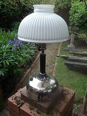 Vintage American Coleman oil lamp - Glass shade