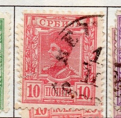 Serbia 1890 Early Issue Fine Used 10p. 157184