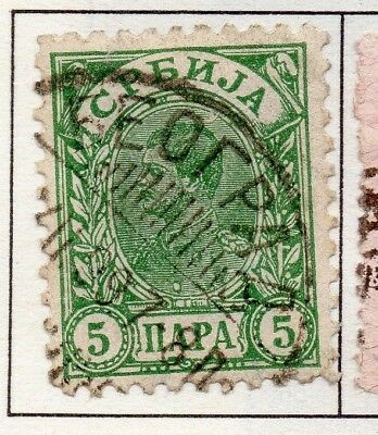 Serbia 1894 Early Issue Fine Used 5p. 157188