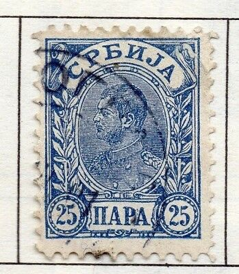Serbia 1894 Early Issue Fine Used 25p. 157199