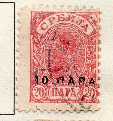 Serbia 1894 Early Issue Fine Used 10p. Surcharged 157200