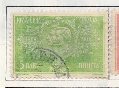 Serbia 1903-1904 Early Issue Fine Used 5p. 157210