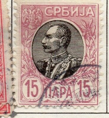 Serbia 1903-1904 Early Issue Fine Used 15p. 157221