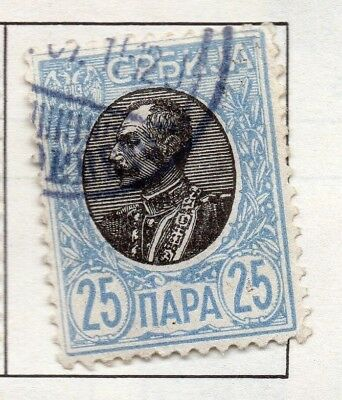 Serbia 1903-1904 Early Issue Fine Used 25p. 157223