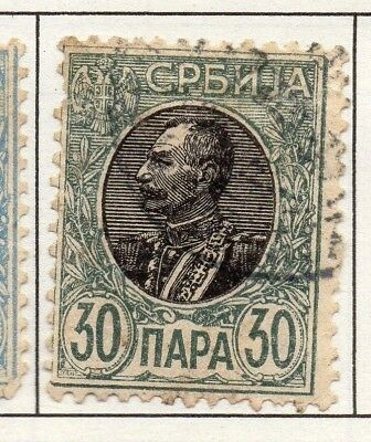 Serbia 1903-1904 Early Issue Fine Used 30p. 157235