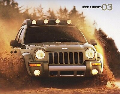 2003 Jeep Liberty Sport Renegade Limited Edition Large Dealer Sales Brochure