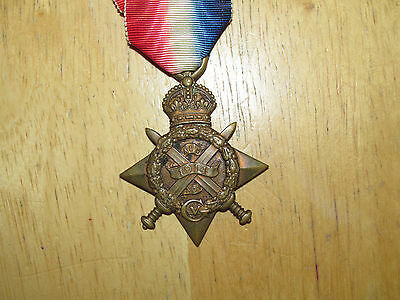 WW1 British Mons 1914 Star Medal Private later Captain