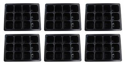 """Plant Seed Starter Trays Germination Pots 1.5"""" X 1.5""""  12 Inserts -144 Cell"""