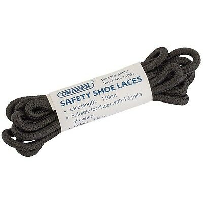 Safe.shoe Spare Laces Blk 110 - Draper Lwst Comss Safety Boots 15063 Genuine