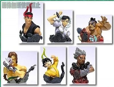 F-toys Capcom Street Fighter Heroes Round 1 Bust Statue Figure Set of 6 2P ver.