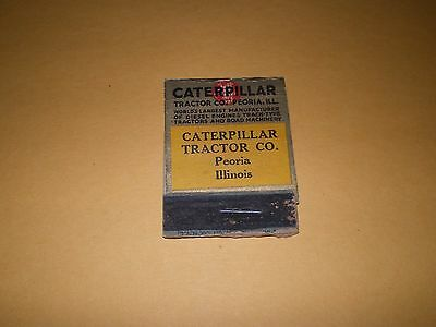 Old Caterpillar Company Peoria IL Diesel Tractor Matchcover