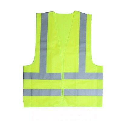 Adult Safety High Visability Vest - Vest Visibility Viz Reflective Waistcoat