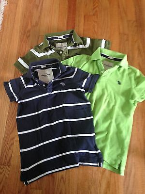 Abercrombie Lot of 3 Boys Kids Polo Pre Owned L & XL