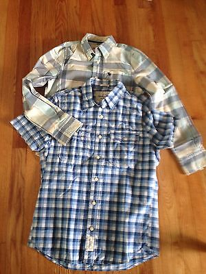 Abercrombie Lot of 2 Boys Kids Shirts,  L & m Pre Owned