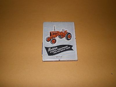 Cook Implement Loup City Nebraska Allis Chalmers Tractor Advertising Matchcover
