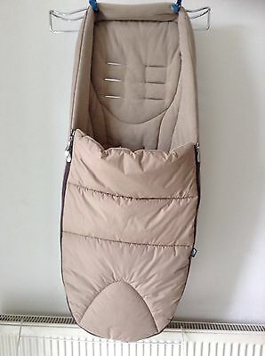 Mamas And Papas Footmuff Cosytoes For Buggy, Beige Colour 'Sandcastle'