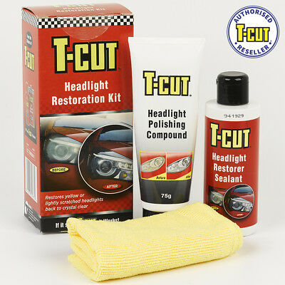 T-Cut Headlight Restoration Kit Scratch Removing Care Protection Improve