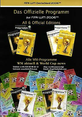 Programmes Germany 2006 - 6 Official FIFA + 64 WM aktuell + 4 World Cup news