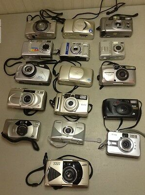 Huge Lot Collection Of Film/ Digital Cameras- Canon Kodak Olympus Polaroid Brica