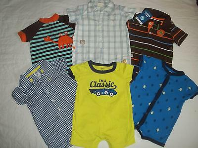 Baby Boy 6M Carters Summer One Piece Outfit Romper Clothes Lot 6 Month FREE SHIP