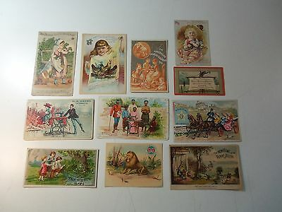 Lot 11 Victorian Trade Cards SEWING MACHINES Singer Standard White - Newport PA