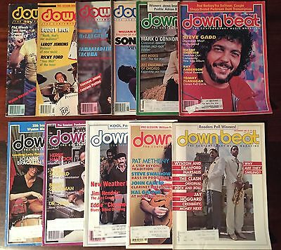 Downbeat Magazine 1982 11 issues missing only February.