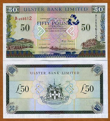 Northern Ireland, Ulster Bank, 50 Pounds, 1997, P-338, UNC