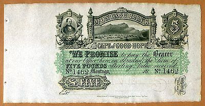South Africa, Montagu Bank, 5 pounds, 18XX (1860s), P-S231r, UNC > Free Shipping