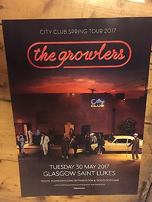 The Growlers - Rare Gig / Concert poster, Glasgow- May 2017