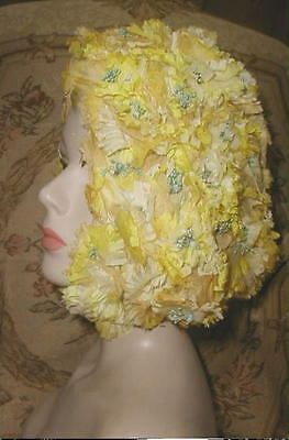 GO GO MOD 1960s Flower Bubble Beach HAT Michael Terre CA Iconic Covers the Head