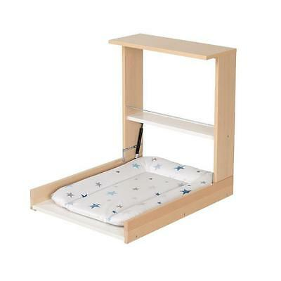 GEUTHER Table a Langer Murale Wicki Naturelle Matelas a Langer Theme Etoiles Ble
