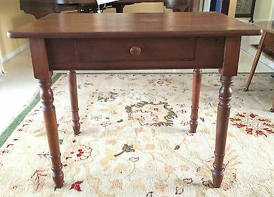 Antique Single Drawer Desk or Table With Turned Legs 1800's
