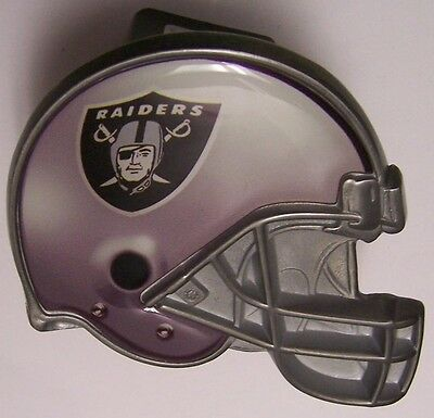 Trailer Hitch Cover NFL Oakland Raiders NEW Metal Football Helmet