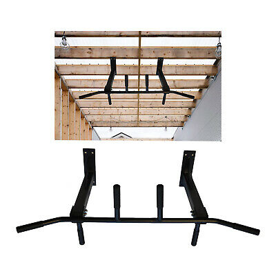 Home Gym Ceiling Mounted Pull Up Bar -  Heavy Duty Chin Up Bar