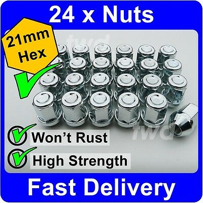 Locking Wheel Nuts 12x1.5 Bolts Tapered for Ford Sierra 82-93