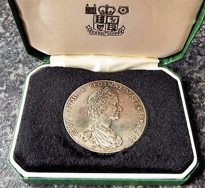 Cased National Trust 25 Years Service Hallmarked Sterling Silver Medal