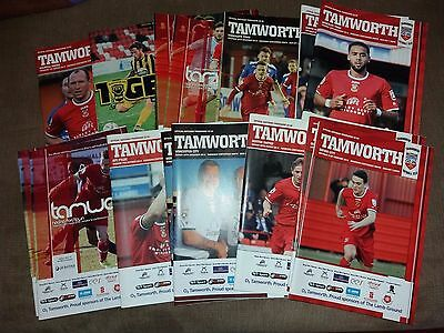Tamworth HOME and AWAY programmes 2014 2015 Non League