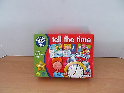Orchard Toys Tell The Time Learn The Time Lotto Game Age 5 - 9 Years Vgc