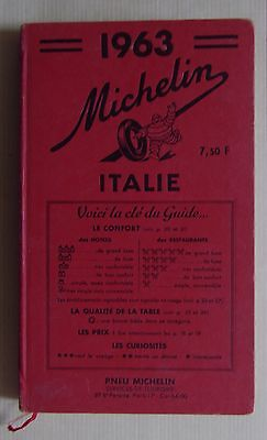 guide MICHELIN rouge ITALIE 1963 (exemplaire n° 2)