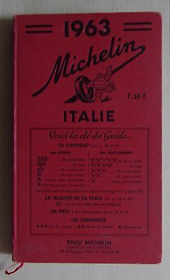 #) guide MICHELIN rouge ITALIE 1963
