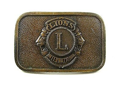 Vintage LIONS INTERNATIONAL Belt Buckle 1417