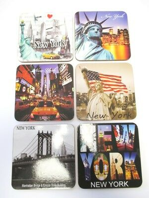 New York City Coaster Untersetzer,6 Stück,Empire,Liberty,Times Square ..