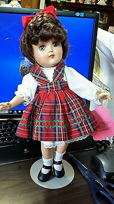 """Effanbee  Reproduction of 14"""" Toni Doll """"first day of school""""  with box"""